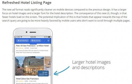Η νέα εμφάνιση των Mobile Hotel Ads της Google